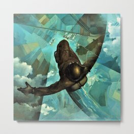 That One Second Before Your Chute Opens by Tullio Crali Metal Print