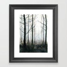 fog among the trees Framed Art Print