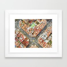 Aerial vieof Barcelona Framed Art Print