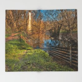 Green Mile Prison Cell Throw Blanket