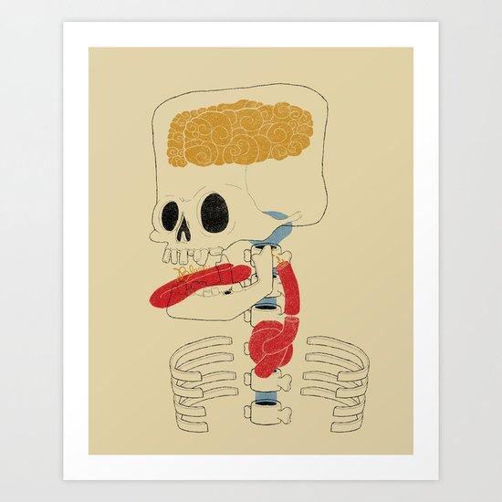 Square Skull...   Art Print