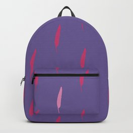 Ultra violet bird feather seamless pattern. Backpack
