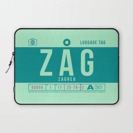 Luggage Tag B - ZAG Zagreb Croatia Laptop Sleeve
