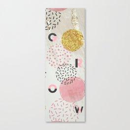 Yoga Mat - Grow | Pink & Gold Glitter Dots Canvas Print