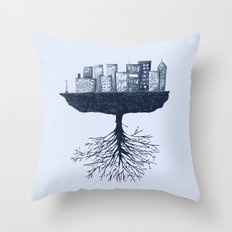 The World Against the World Throw Pillow