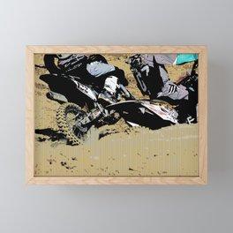 Inside Move - Motocross Racers Framed Mini Art Print