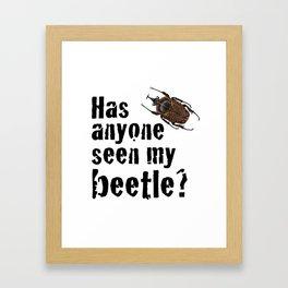 Beetle Search Framed Art Print