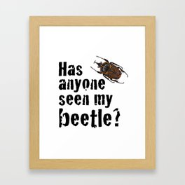 Beetle Search Framed Art Print
