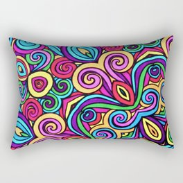 Saratoga Rainbow Swirls Absract Rectangular Pillow