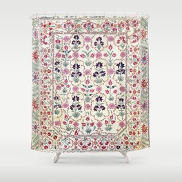 Ura Tube Suzani Uzbekistan Embroidery Print Shower Curtain