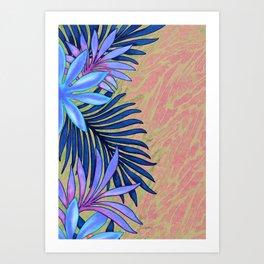 A Run Through the Jungle Blues Art Print