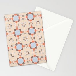 Blue Retro Tile Stationery Cards
