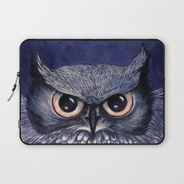 La Sagesse du Hibou (The Blue Owl) Laptop Sleeve