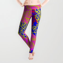 Night In the Jungle Garden, Pink Leggings