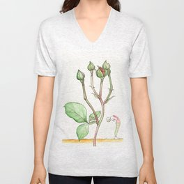 Rose Backbend Unisex V-Neck