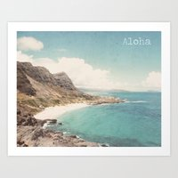 aloha Art Prints featuring Aloha by Retro Love Photography