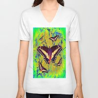 butterflies V-neck T-shirts featuring butterflies  by  Agostino Lo Coco