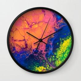 rainbow skyfall Wall Clock