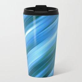 Abstract blue ray background Travel Mug