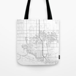 Minimal City Maps - Map Of Lancaster, California, United States Tote Bag