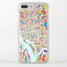 Washington DC Street Map Clear iPhone Case