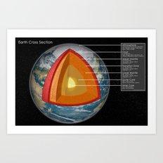 Earth - Cross Section Art Print