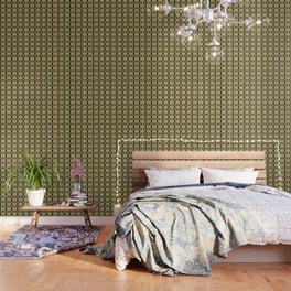wildflower bouquet, yellow pattern Wallpaper