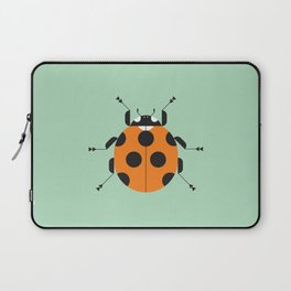 Lady Bug Green Laptop Sleeve
