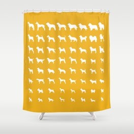 All Dogs (Gold) Shower Curtain