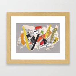 Multicolor collage ign Framed Art Print
