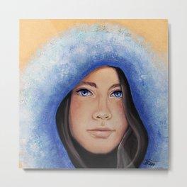 Winter Mädchen Metal Print