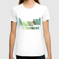 periodic table T-shirts featuring Periodic Table, Pixilated Color Blocks by kltj11