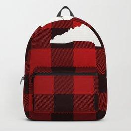 North Carolina is Home - Buffalo Check Plaid Backpack