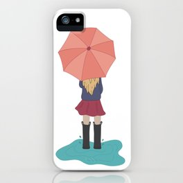 Play in the Puddles iPhone Case