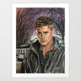 Dean  and Baby Art Print
