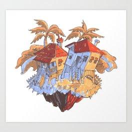 Dance Houses Art Print