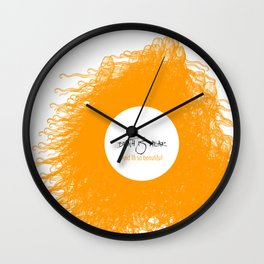 Death is a transition. Not the end. Peace & Love Wall Clock