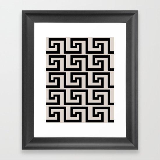 Greek Key Framed Art Print