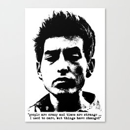 Bob Dylan Things Have Changed Canvas Print