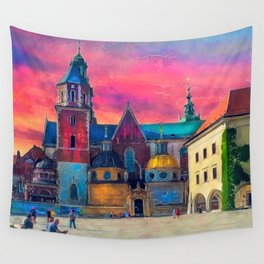 Cracow Wawel art Wall Tapestry