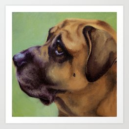 Rex - Portrait of a dog Art Print