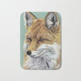 Fox Portrait 01 Bath Mat