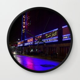Reflections of Radio City Music Hall Wall Clock