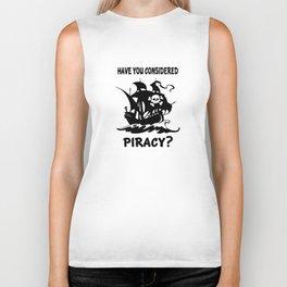 Consider Piracy Biker Tank