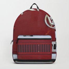 Wander van. Summer dreams. Red Backpack