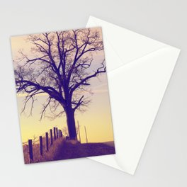 early morning dream along a country road Stationery Cards