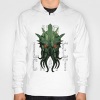 lovecraft Hoodies featuring H.P. Lovecraft by MikeRush