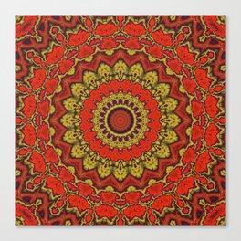 Mandala Fractal in Indian Summer 03 Canvas Print