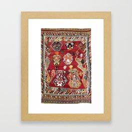Luri Fars Southwest Persian Kilim Print Framed Art Print