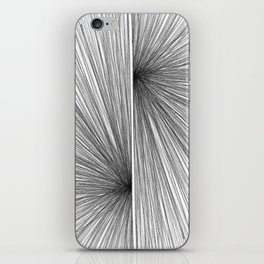 Mid Century Modern Geometric Abstract Radiating Lines iPhone Skin